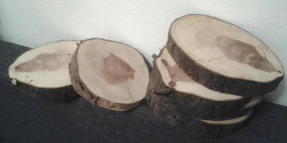 Dřevěné rustikální podtácky, kulatiny - Obrázek č. 1