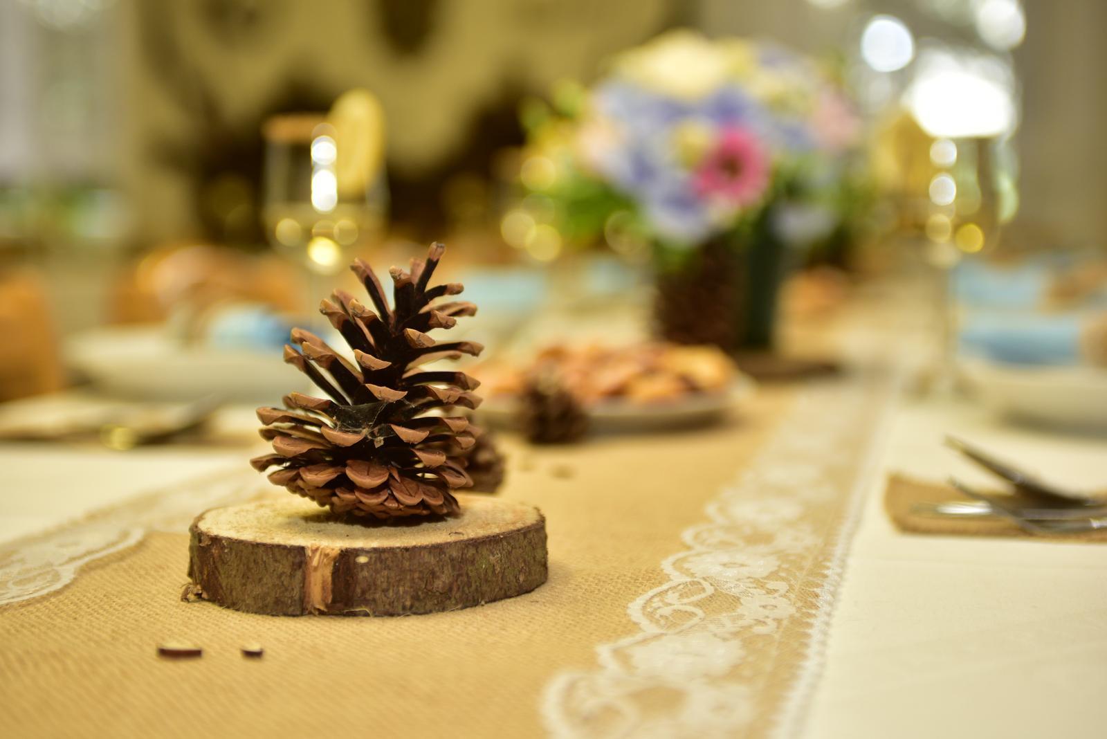 Šišky na výzdobu rustikální svatby - Obrázek č. 1