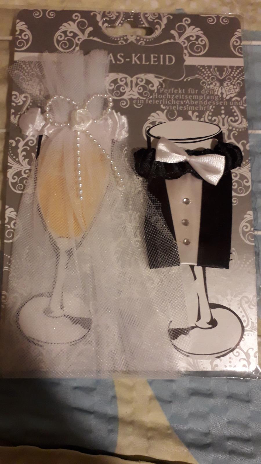 Ozdoby na sklenice ženicha a nevěsty - Obrázek č. 1