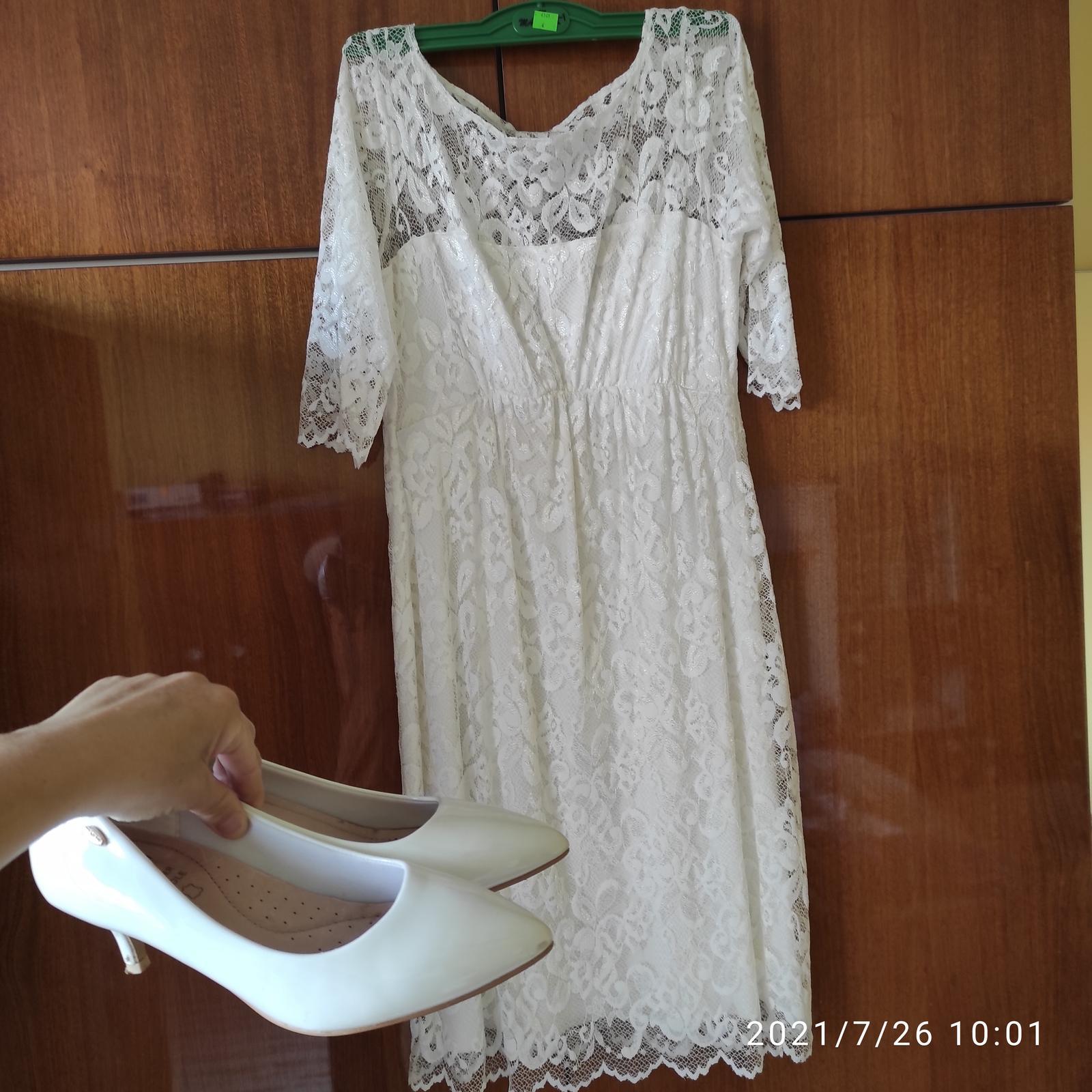 Predám krásne svadobné tehotenské šaty, pár hodín oblečené - Obrázok č. 1