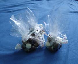 dárečky pro hosty...vyhrály oříšky v čokoládě...