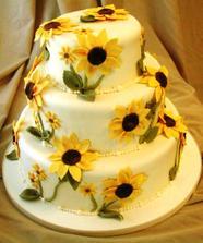 Torta so slnecnicou