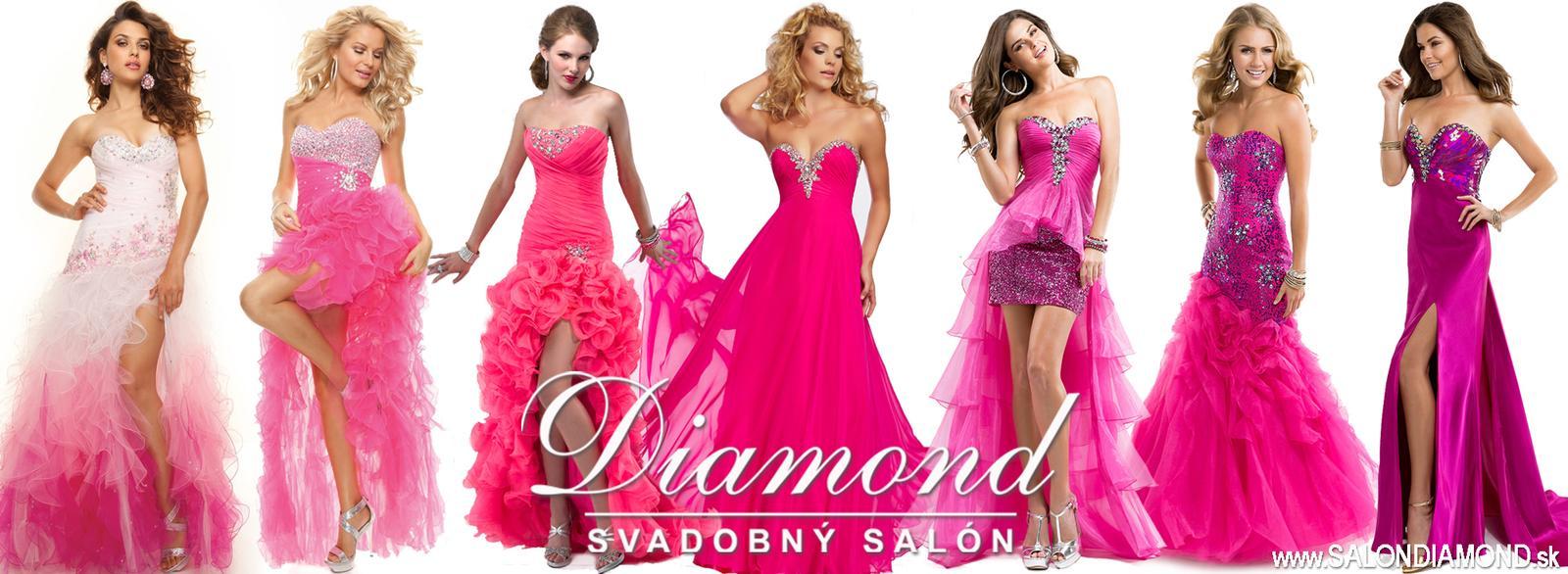 Farebná inšpirácia – neónová ružová, malinová, fuksiová... - Šaty zľava: Linda, Lilienne pink, P4704, Nancy, P2860, P4842, P4829