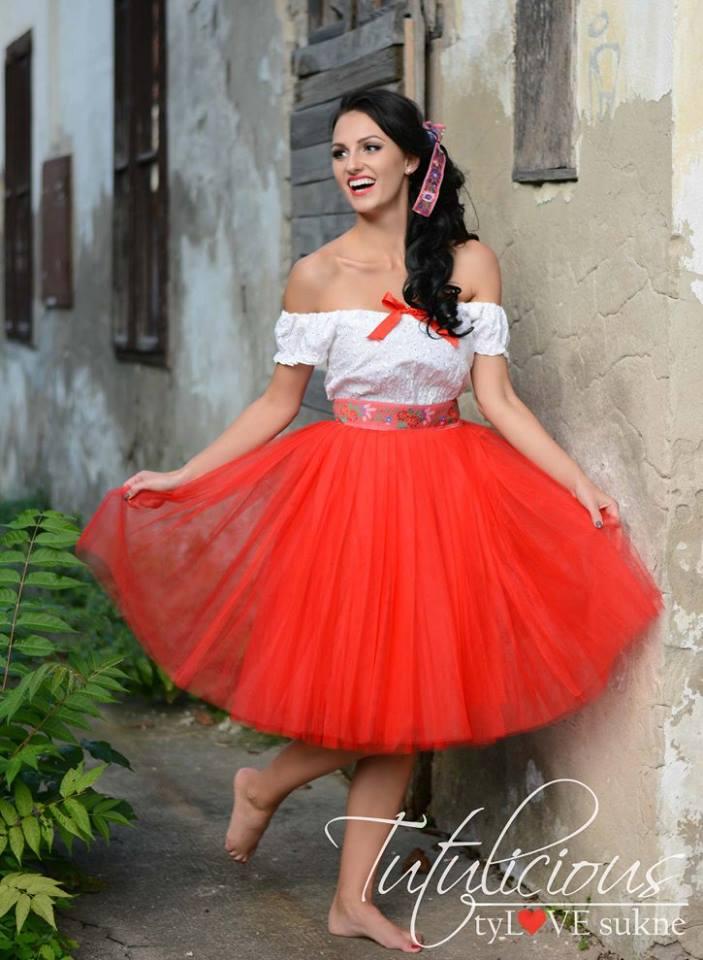 20% zľava na TUTUlicious tylove sukne - tutu AVENUE red