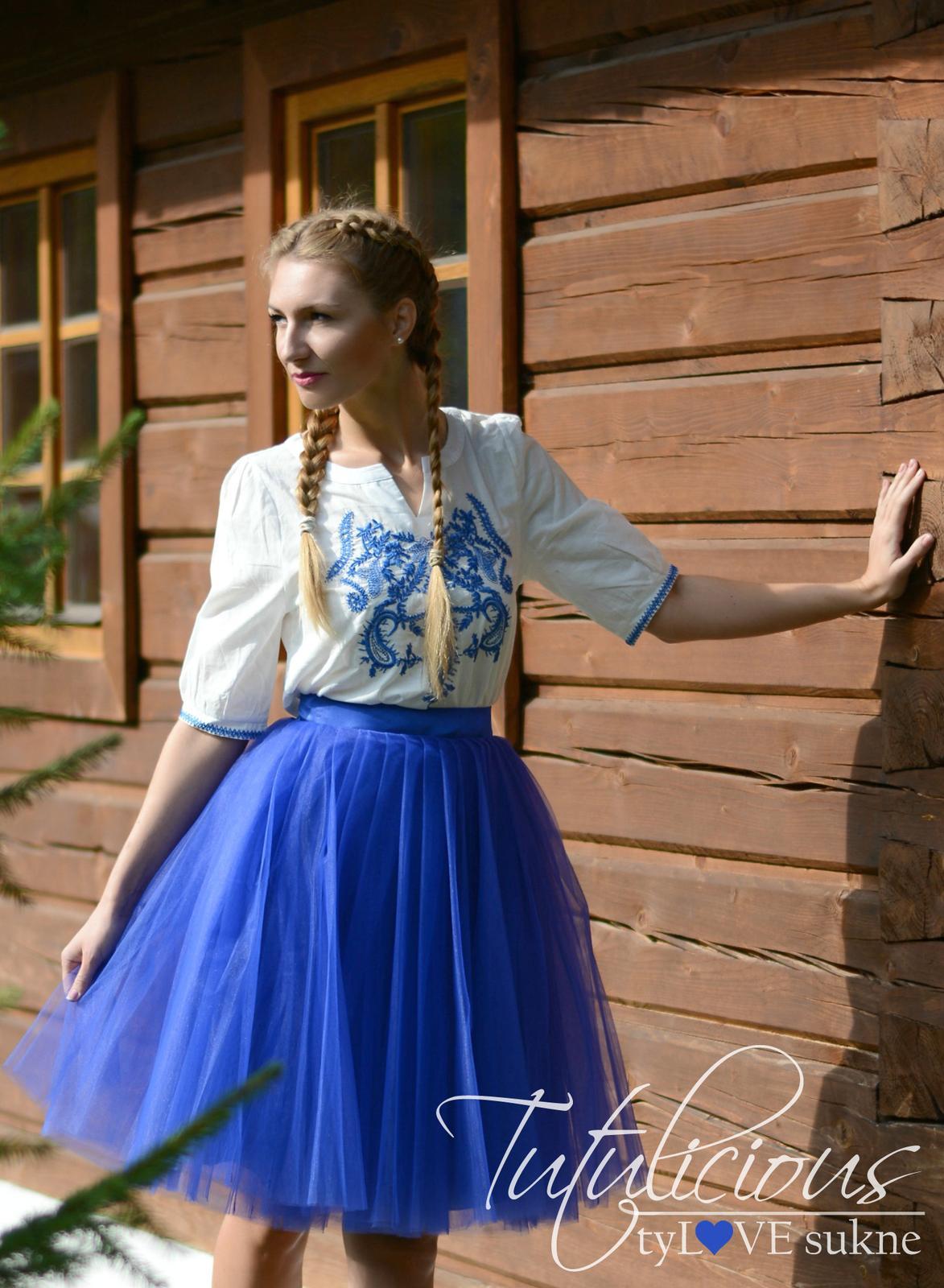 20% zľava na TUTUlicious tylove sukne - tutu AVENUE royal blue