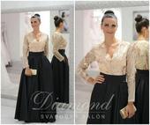 Štýlová saténová čierna sukňa, XL