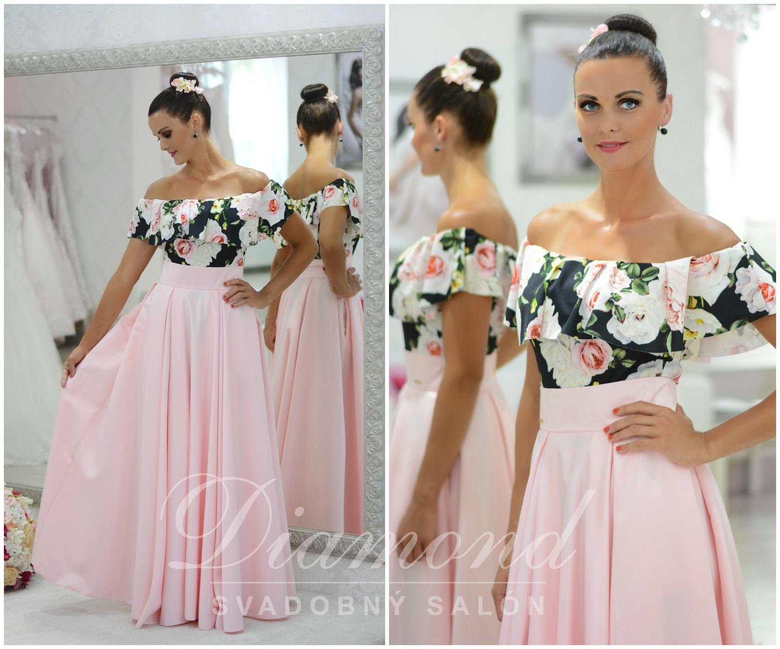 Štýlová saténová púdrovo-ružová sukňa - Obrázok č. 1