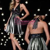 Spoločenské krátke šaty Phoebe black, 40