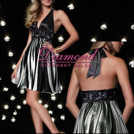 Spoločenské krátke šaty Phoebe black - Obrázok č. 1