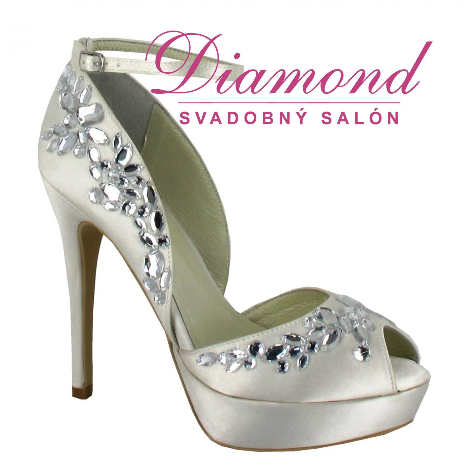 Svadobné topánky Silvia (6164) - Obrázok č. 1