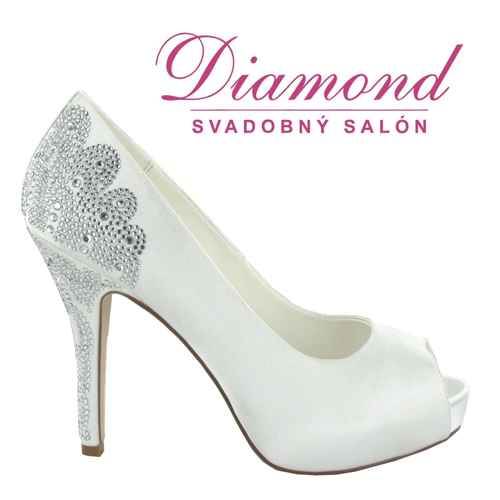 Svadobné topánky Angelina (6509) - Obrázok č. 1