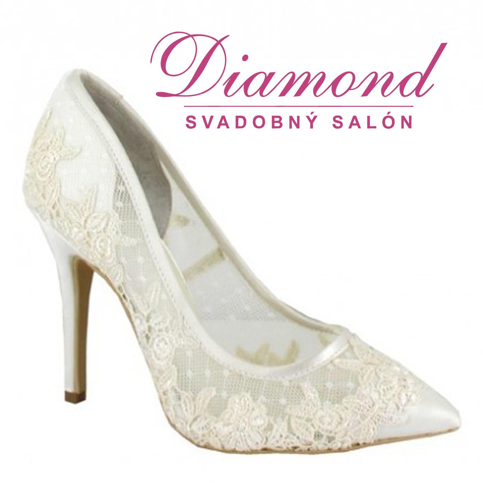 Svadobné topánky Amia (5976) - Obrázok č. 1