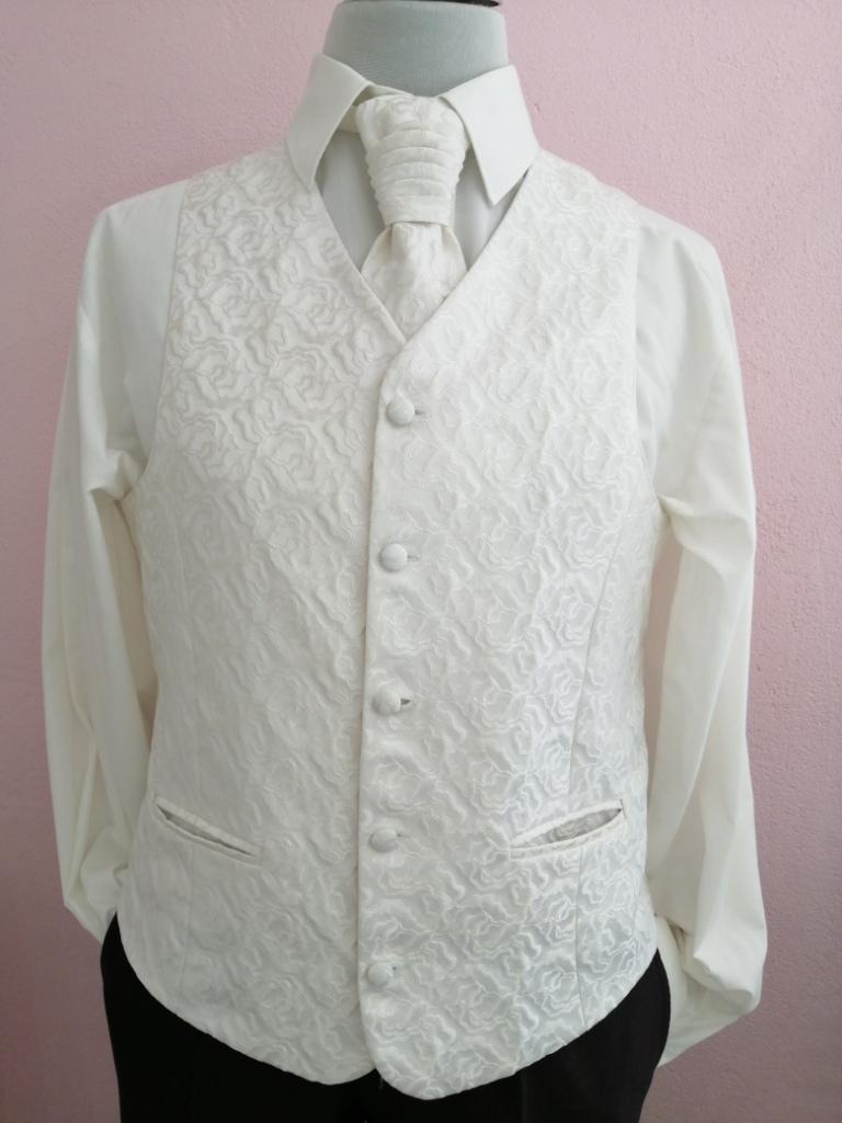 Svadobná vesta - bielo-maslová - Avantgard - Obrázok č. 1