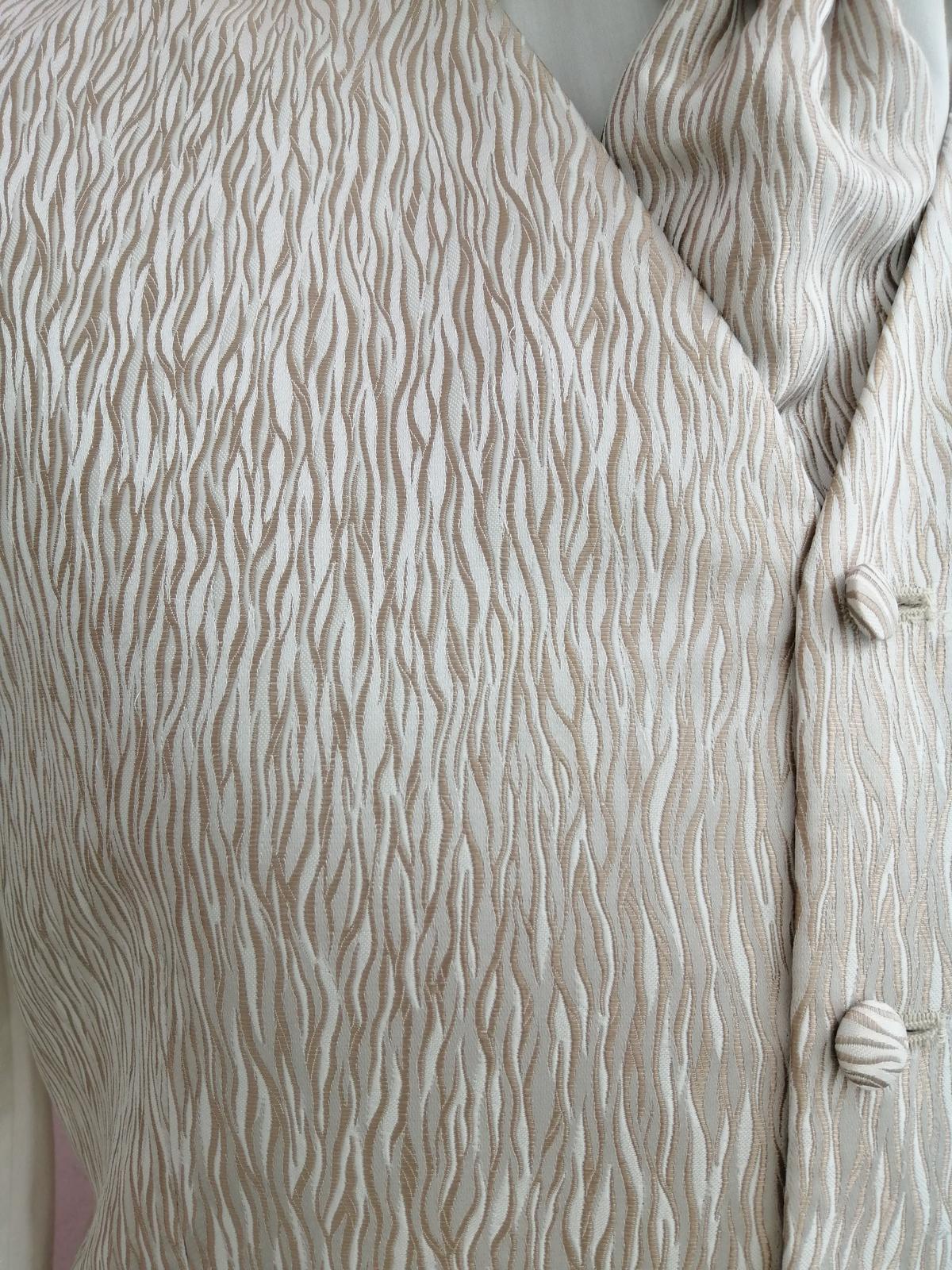 Svadobná vesta - béžovo hnedá - Wilvorst - Obrázok č. 2
