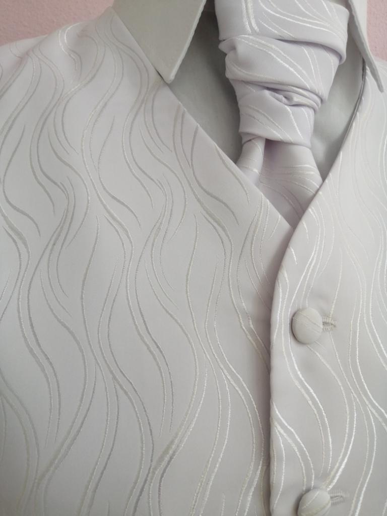 Svadobná vesta - biela - Avantgard - Obrázok č. 2