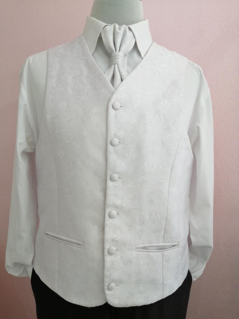 Svadobná vesta - biela - Avantgard - Obrázok č. 1