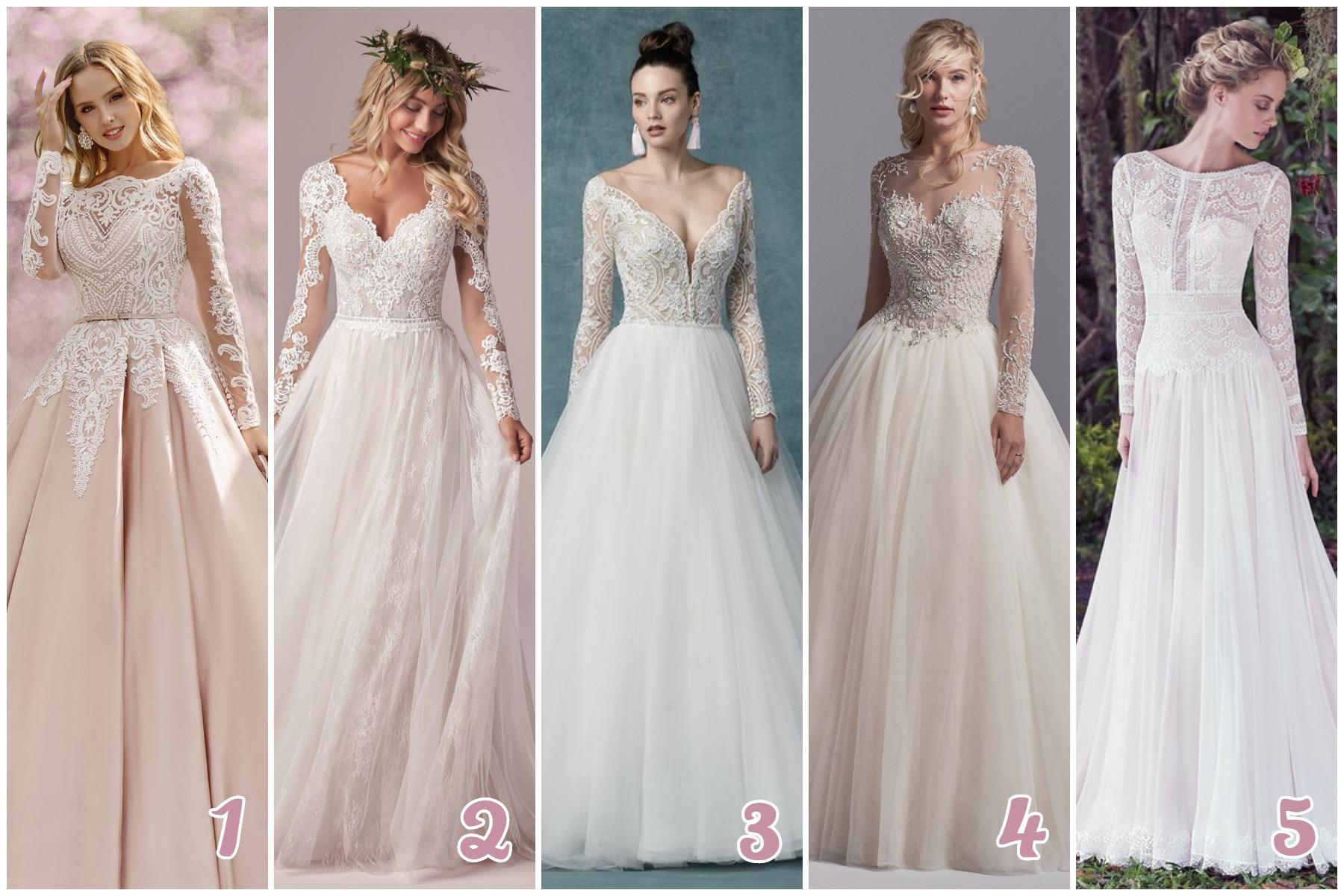 Ktoré šaty s dlhým rukávom sa vám najviac páčia? - Obrázok č. 1