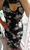 Květované šaty se zavazováním za krk, 38