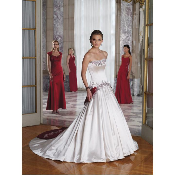 Krááásne červeno-biele šaty - Obrázok č. 25