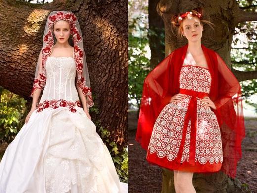 Krááásne červeno-biele šaty - Obrázok č. 101