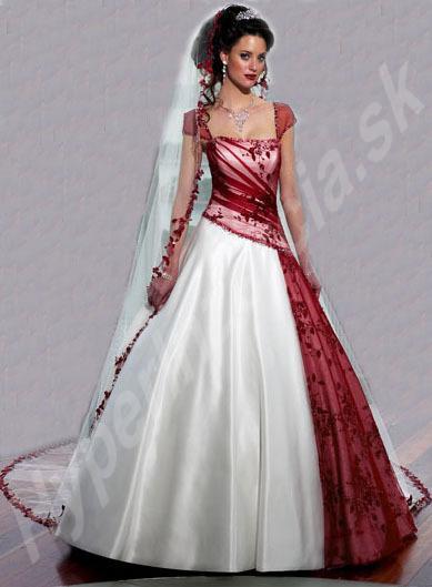 Krááásne červeno-biele šaty - Obrázok č. 9