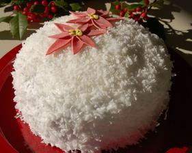 Kokosová torta musí byť! ozdoba-kvety v bronzovej.
