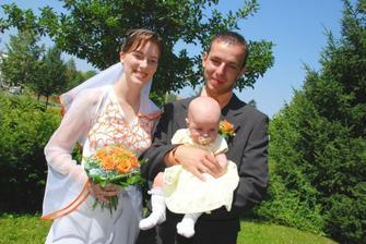 s Ellinkou - nevěstiny svědkyně malá - neteř novomanželů