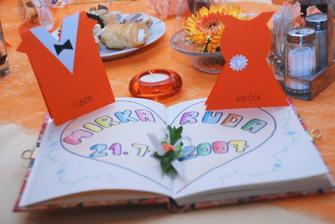 """svatební """"památník"""" na vzkazy od svatebčanů"""