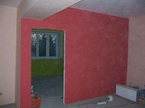 stěna v obýváku I.