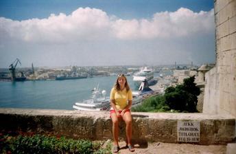 dovolenka na Malte-v záhrade Barraka pohľad na Grand Harbour