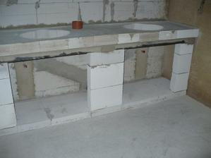 koupelna - pult na 2 umyvadla