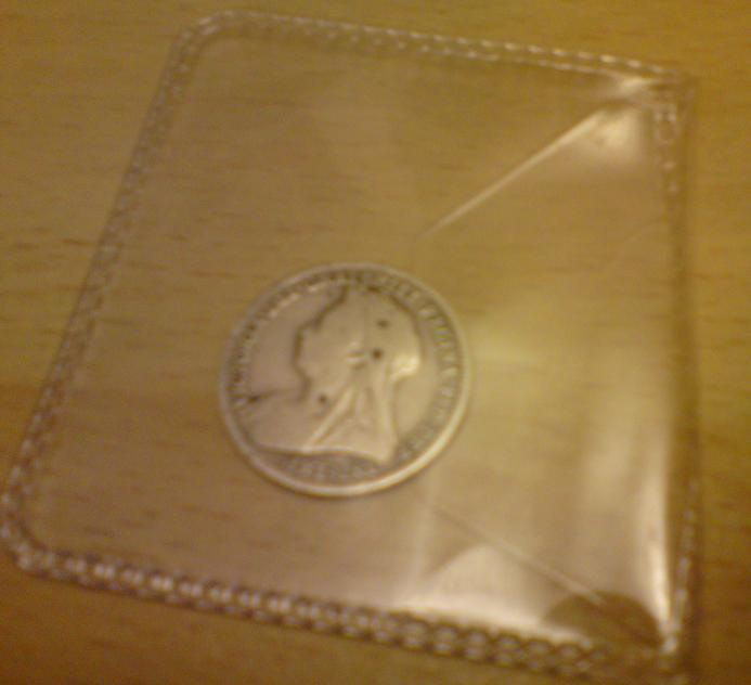Wedding stuff - lucky silver sixpence