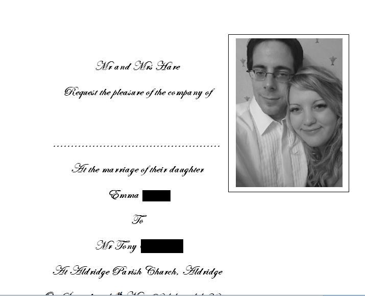 Wedding stuff - Invite inserts