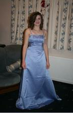 Mandy trying on her bridesmaid dress