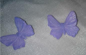 icing butterflies for cake (Need to be light blue instead of purple), they are more glittery but doesn't show up on the photos