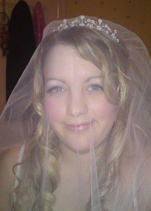 Wedding stuff - tiara 2 with veil, everyone I've asked prefers this one, I prefer the other one lol