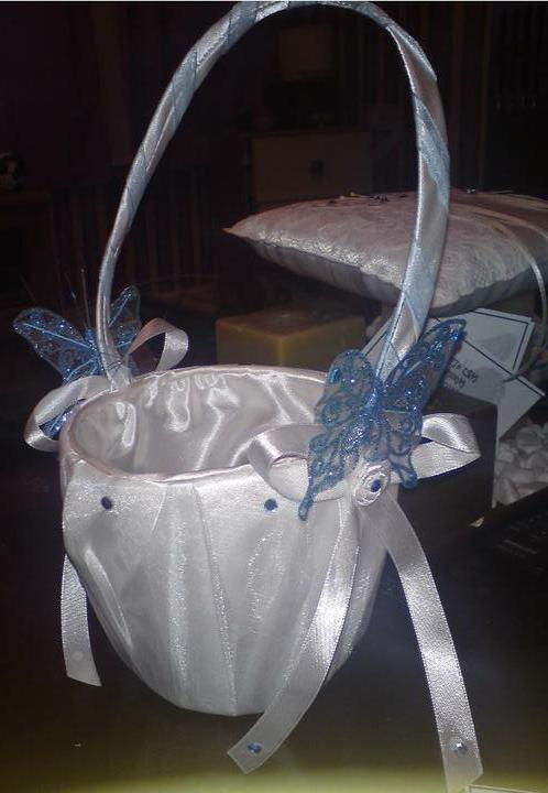 Wedding stuff - decorated flowergirl basket