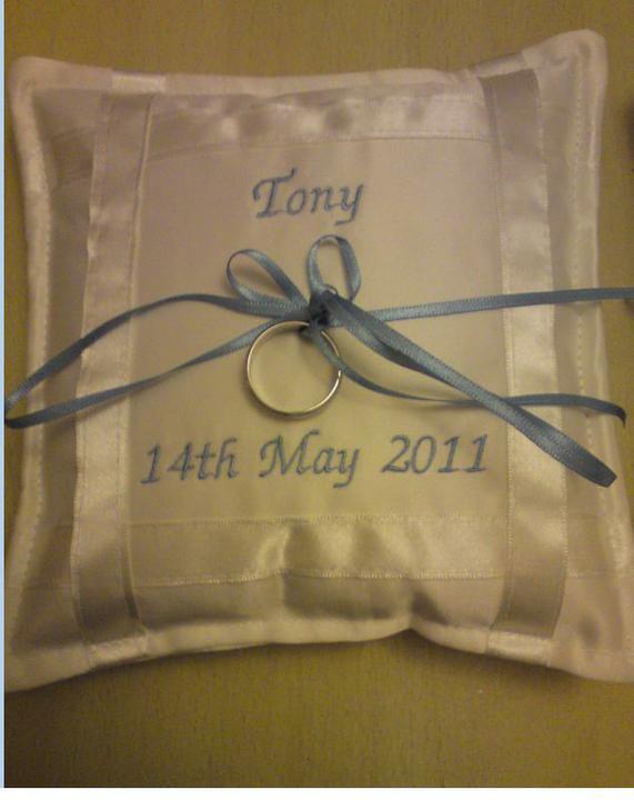 Wedding stuff - New ring cushions ...