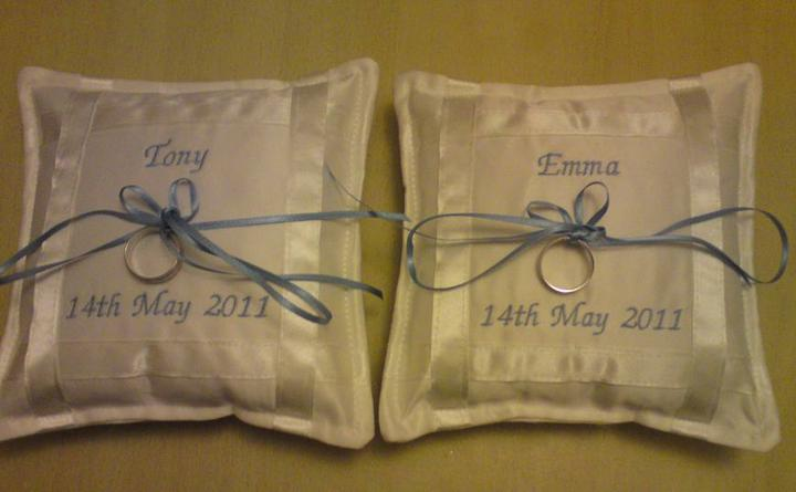Wedding stuff - They're made to carry one ring each