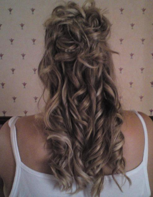 Wedding stuff - back of hair after hair trial