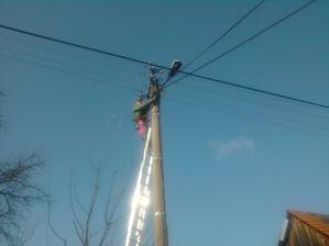 Zapojenie elektriny na stlpe
