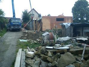 Betonovanie 2. nadzemneho podlažia nad obývačkou