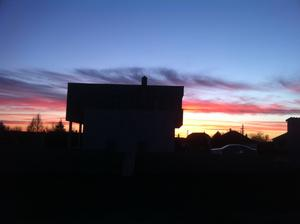 západ slnka...