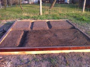 Pozemok sice este neupraveny, ale mini zahradka uz je :)