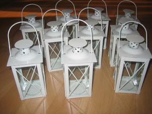 lucerničky na svatební stůl NEKOPÍROVAT