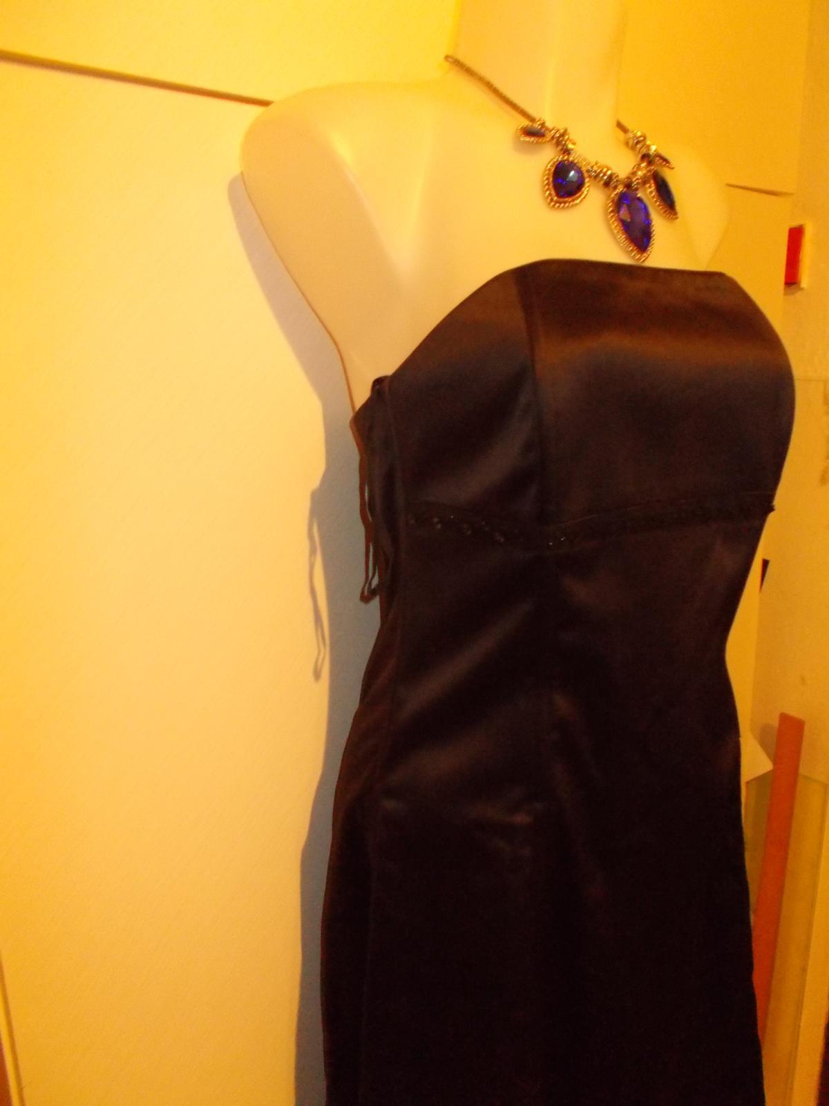 korzetové saténové šaty Chantall veľ, 40 - Obrázok č. 3