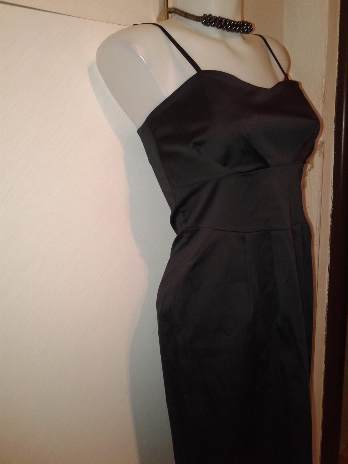 čierne spoločenské šaty Rinascimento veľ. M - Obrázok č. 1