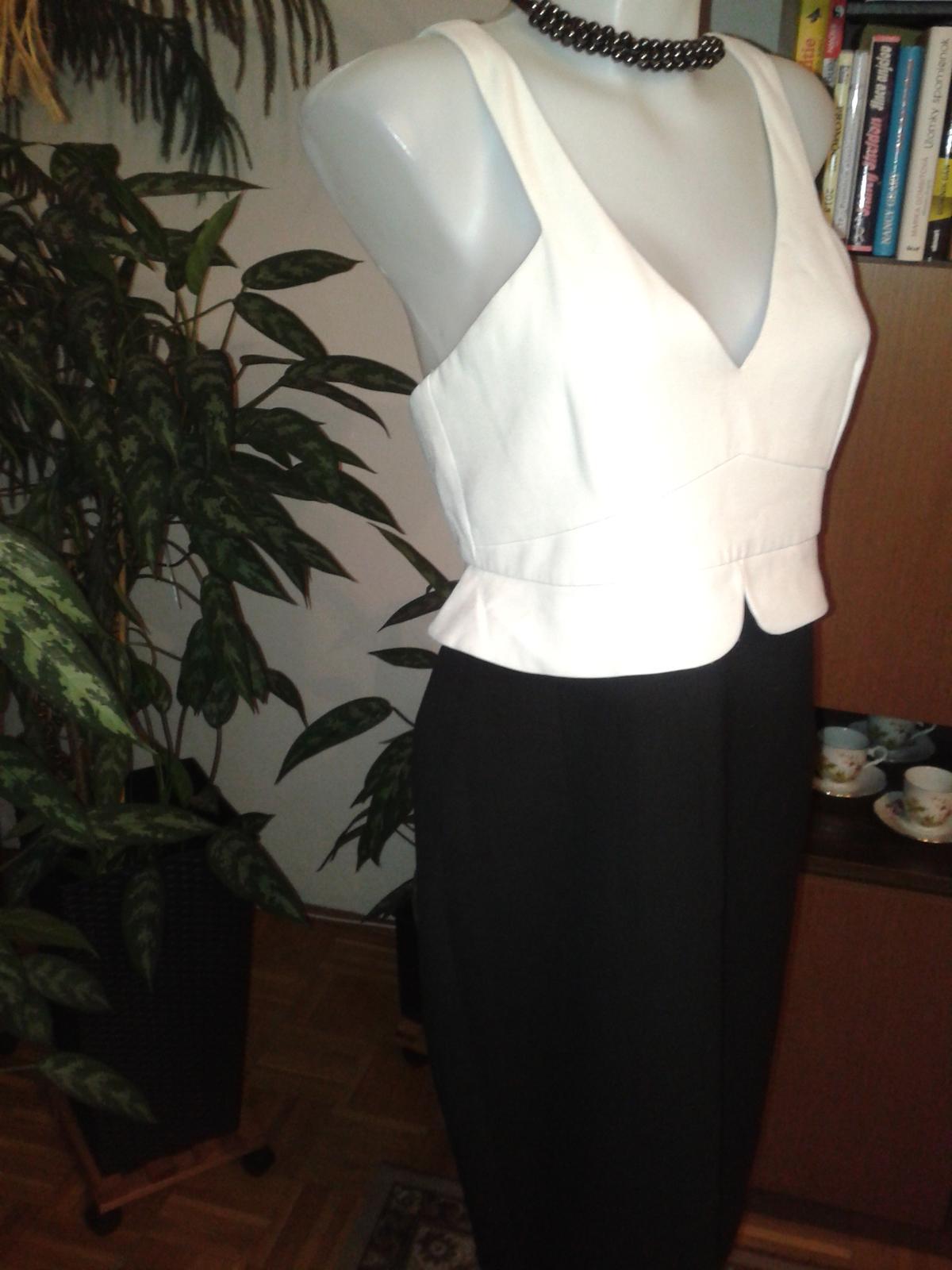 čierno biele korzetové šaty ZARA  - Obrázok č. 2