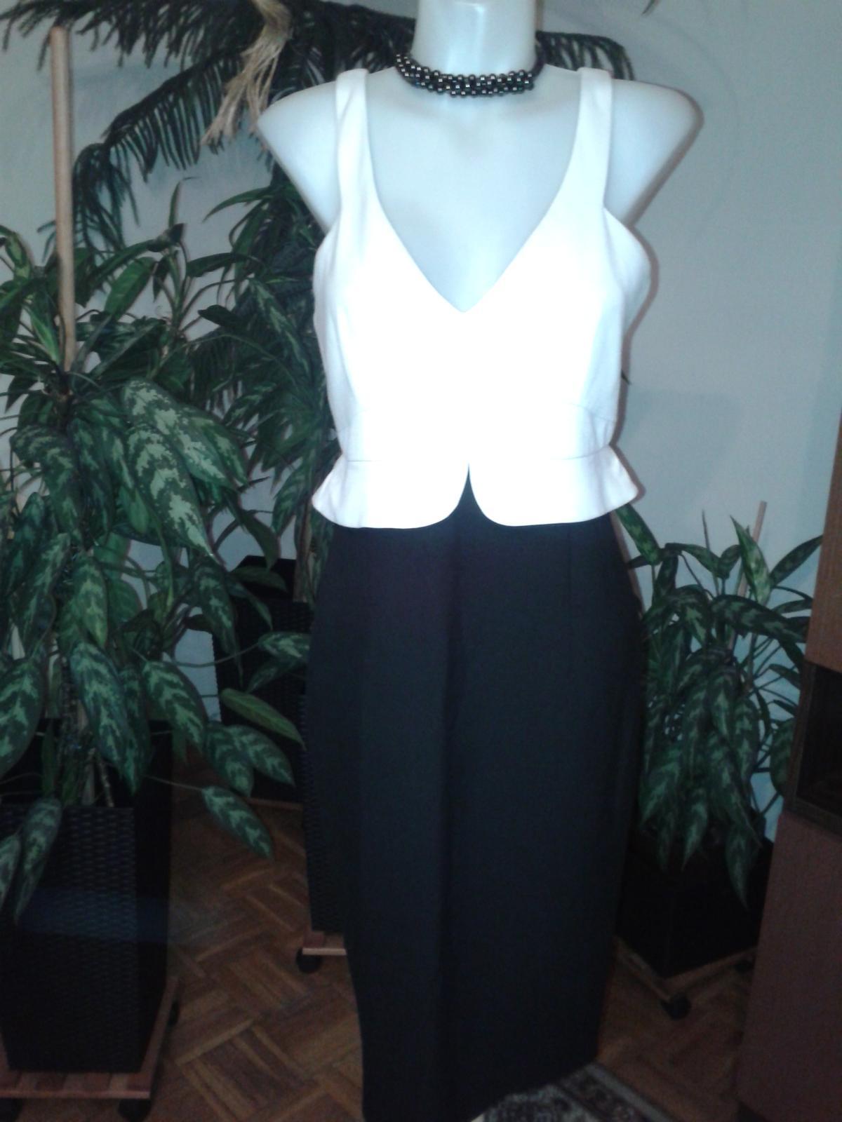 čierno biele korzetové šaty ZARA  - Obrázok č. 3