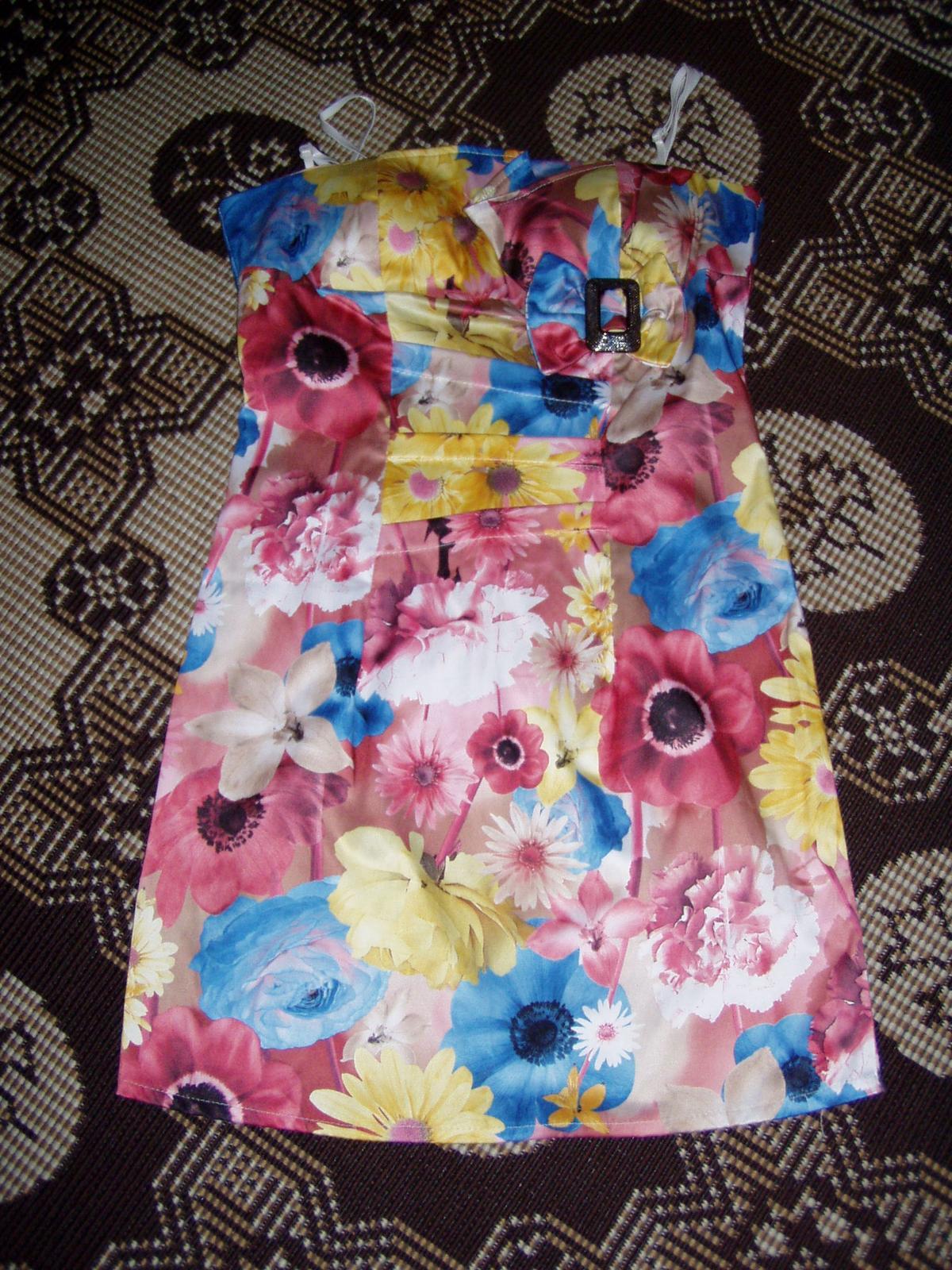 farebné talianske korzetové šaty veľ. 38 - Obrázok č. 1